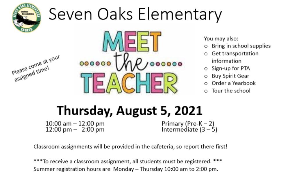 Meet The Teacher Day 2021